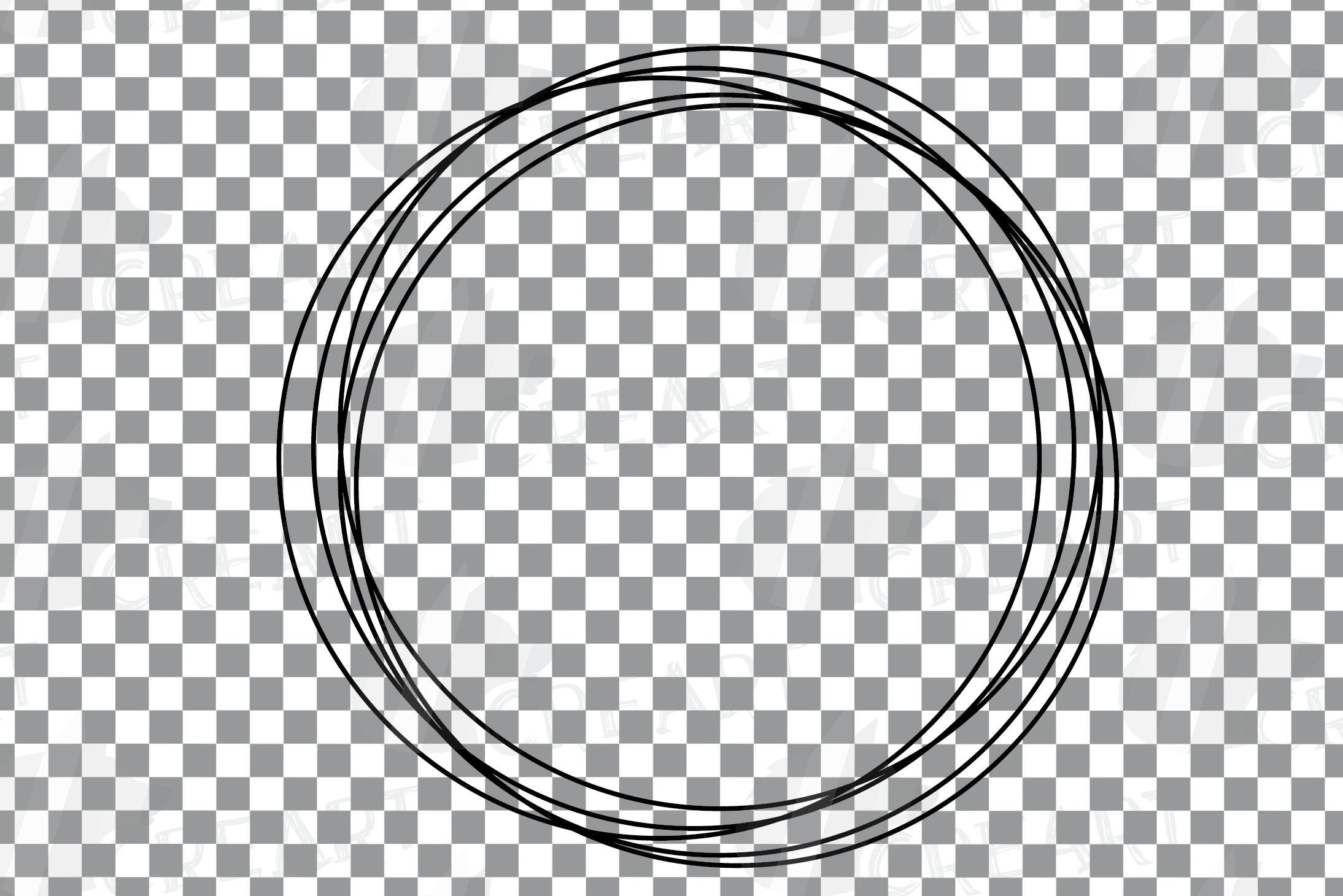 Geometric lineal black frames decor clip art. Wedding border example image 9