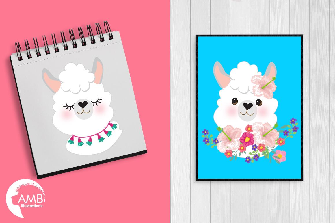 Llama Ladies clipart, graphics, illustrations, AMB-2102 example image 5