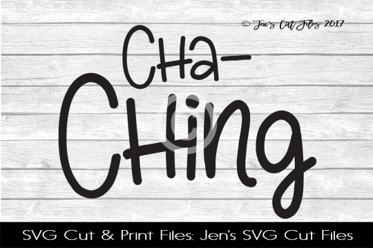 Cha Ching SVG Cut File example image 1