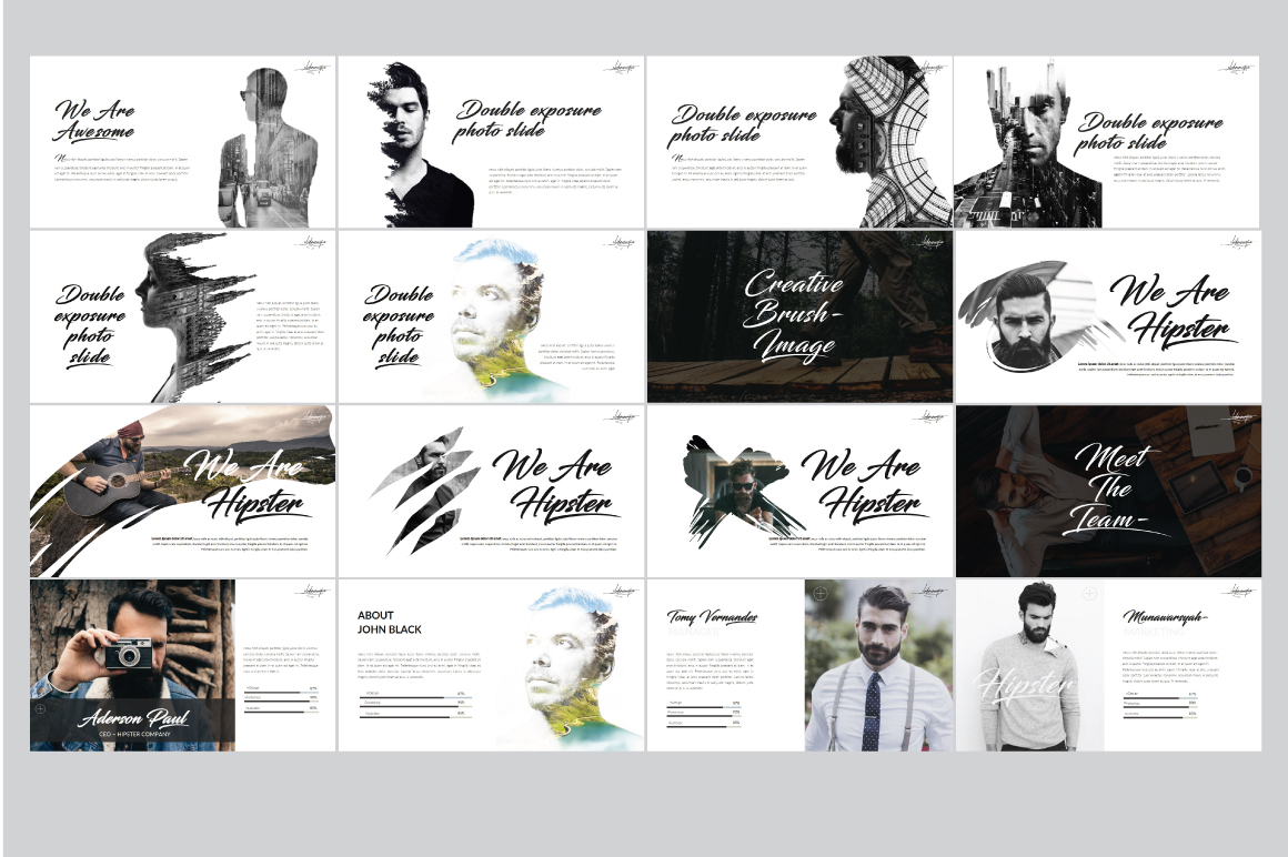 Hipster v.2 Powerpoint Template example image 6