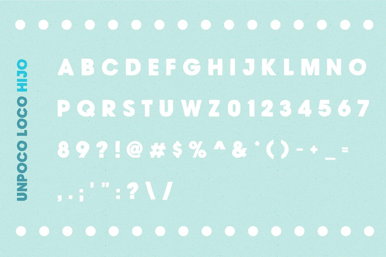 Unpoco Loco™ - 4 Layered Fonts example image 13