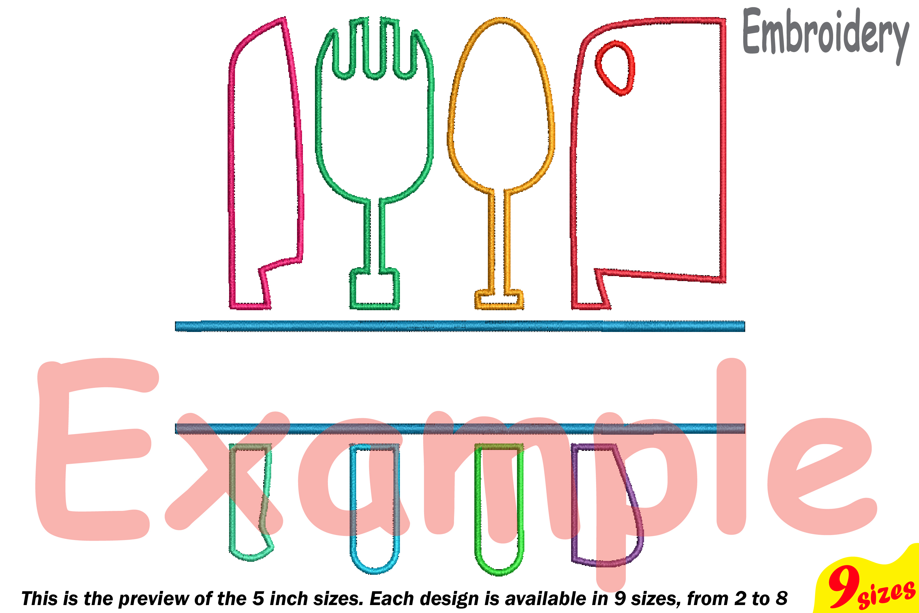 Split Kitchen Embroidery Design Machine Instant Download Commercial Use  Digital File Icon Symbol Sign Cooking Chef