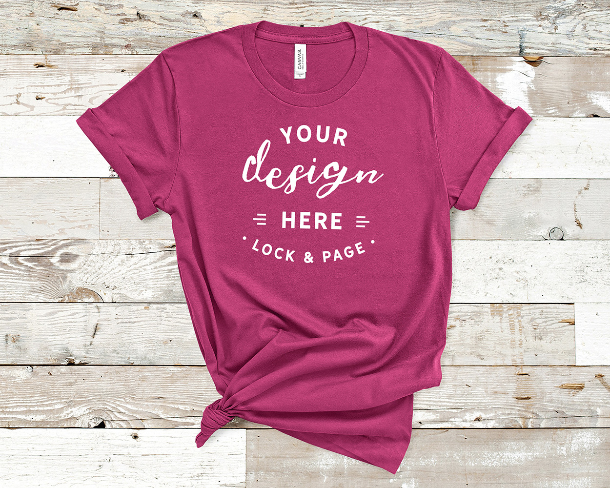 Bella Canvas 3001 Mockup T-Shirt Bundle All Colors On Wood example image 5