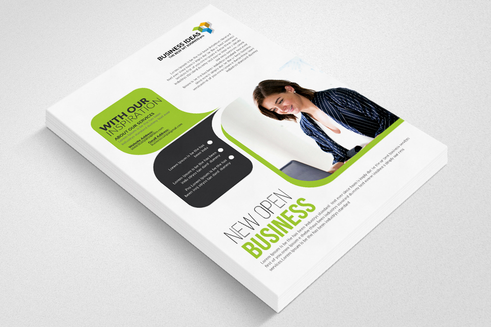 law firm business flyer template ad