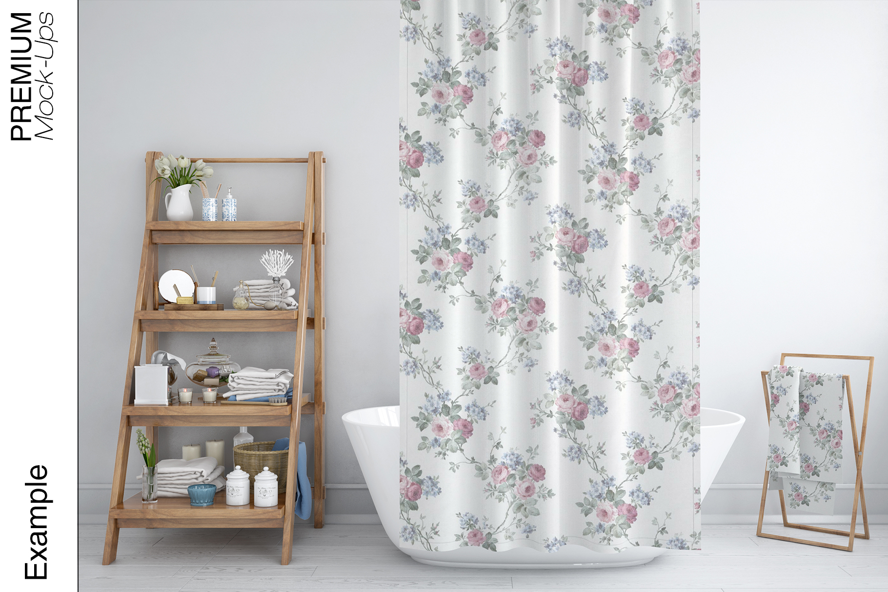 Bath Curtain Mockups example image 10