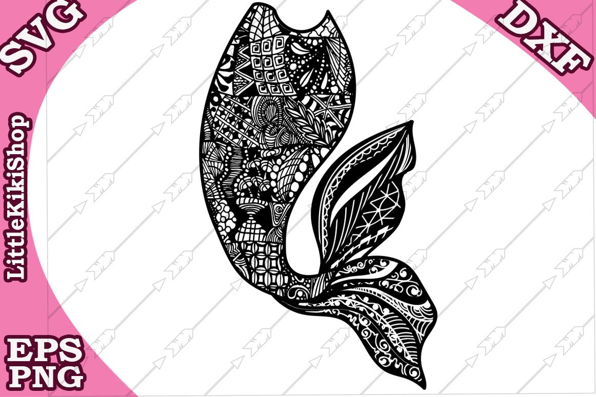 Mermaid Tail Svg, mandala Mermaid Svg,Mermaid cut file example image 1