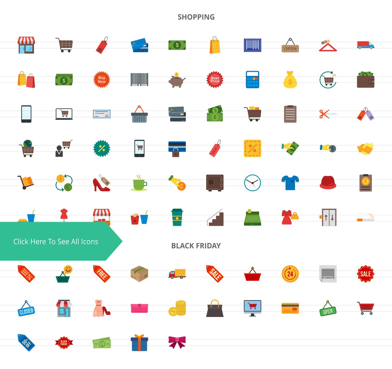 85 Black Friday Flat Icons example image 2