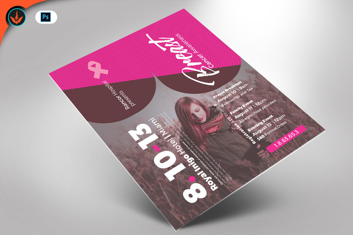 Breast Cancer Awareness Flyer Template example image 1