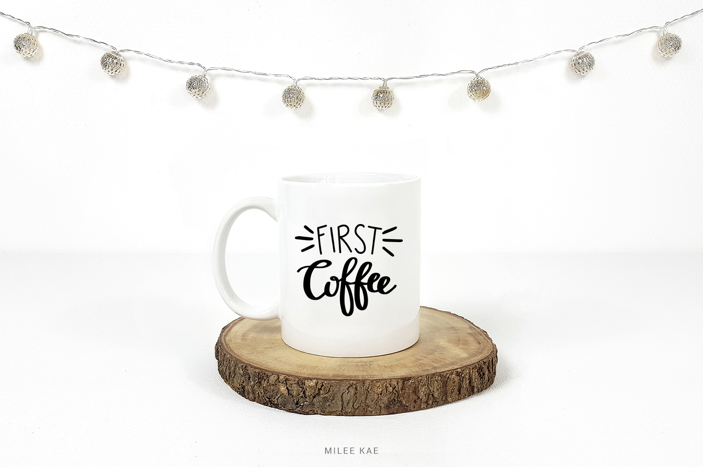 First coffee, Cutting file, SVG, PNG, EPS, DXF example image 2