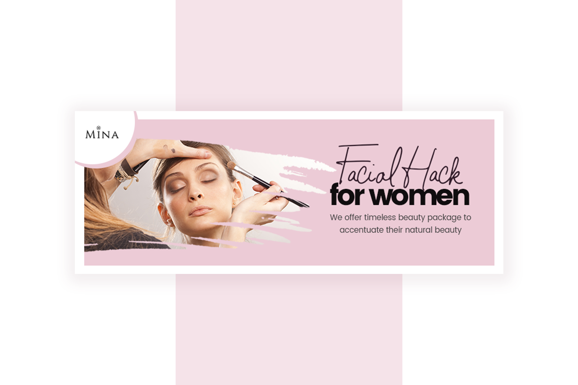 Beauty Service Facebook Cover Template example image 2