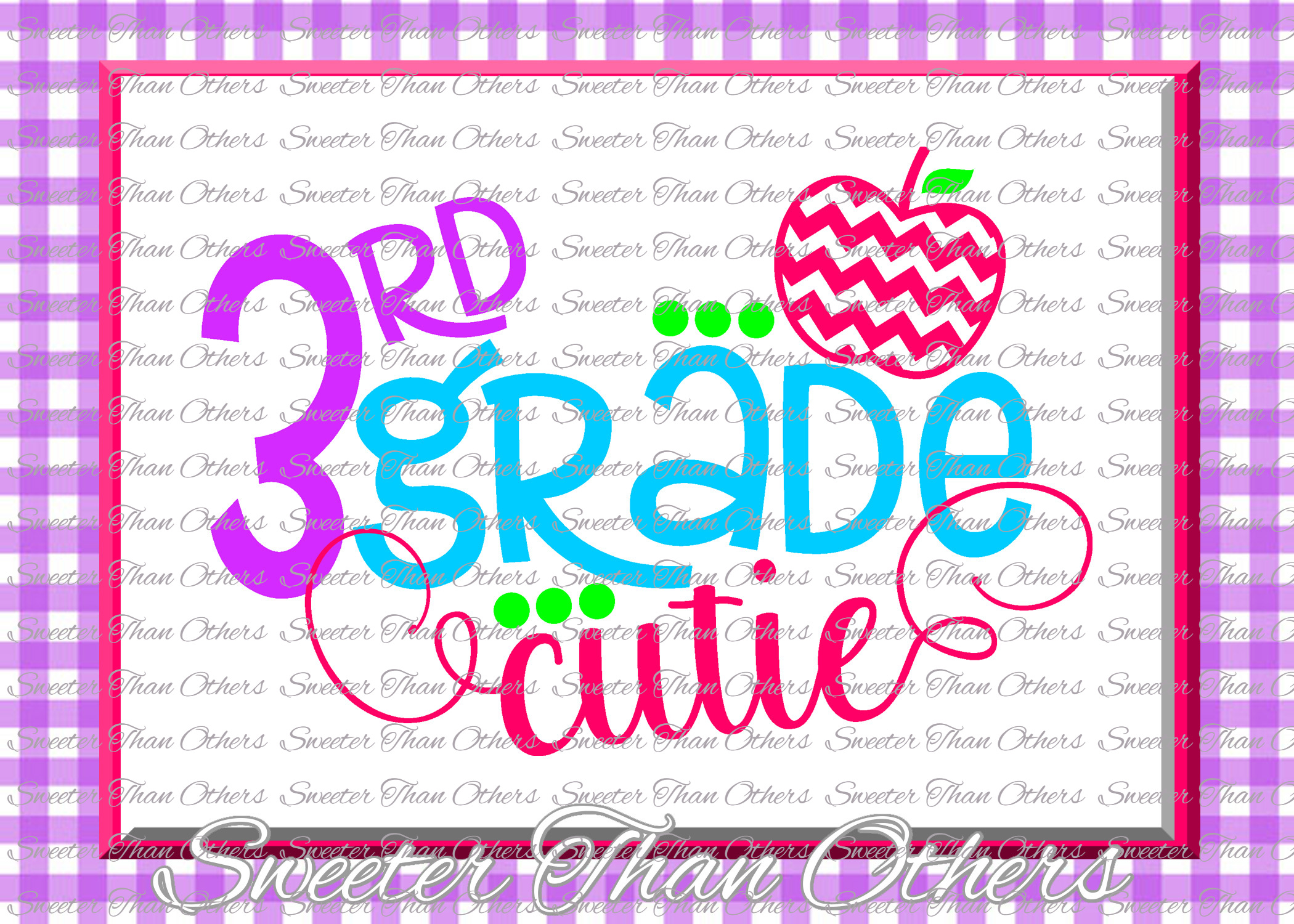 School Cutie SVG Bundle Kindergarten First Day of School example image 4