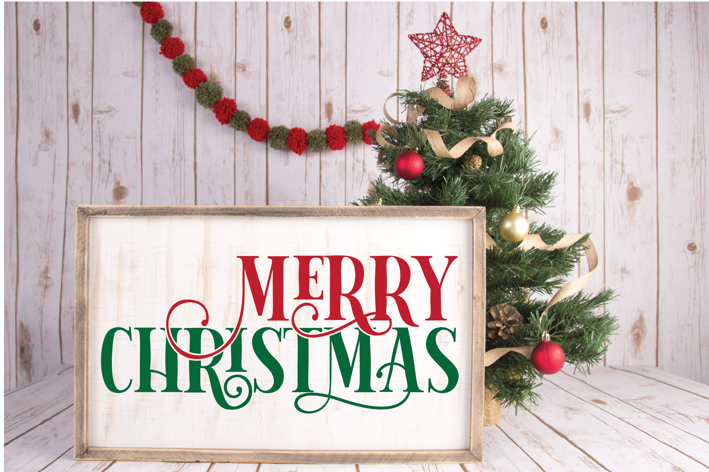 Merry Christmas SVG Cut File example image 3