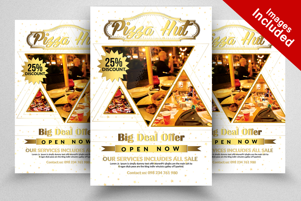 10 Restaurant Flyer Template Bundle example image 11
