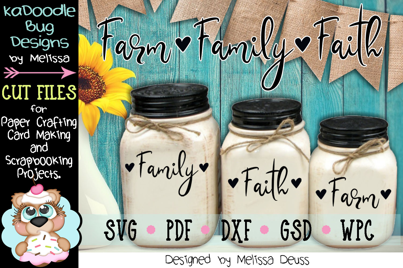 Farm Family Faith Cut File - SVG PDF DXF example image 1
