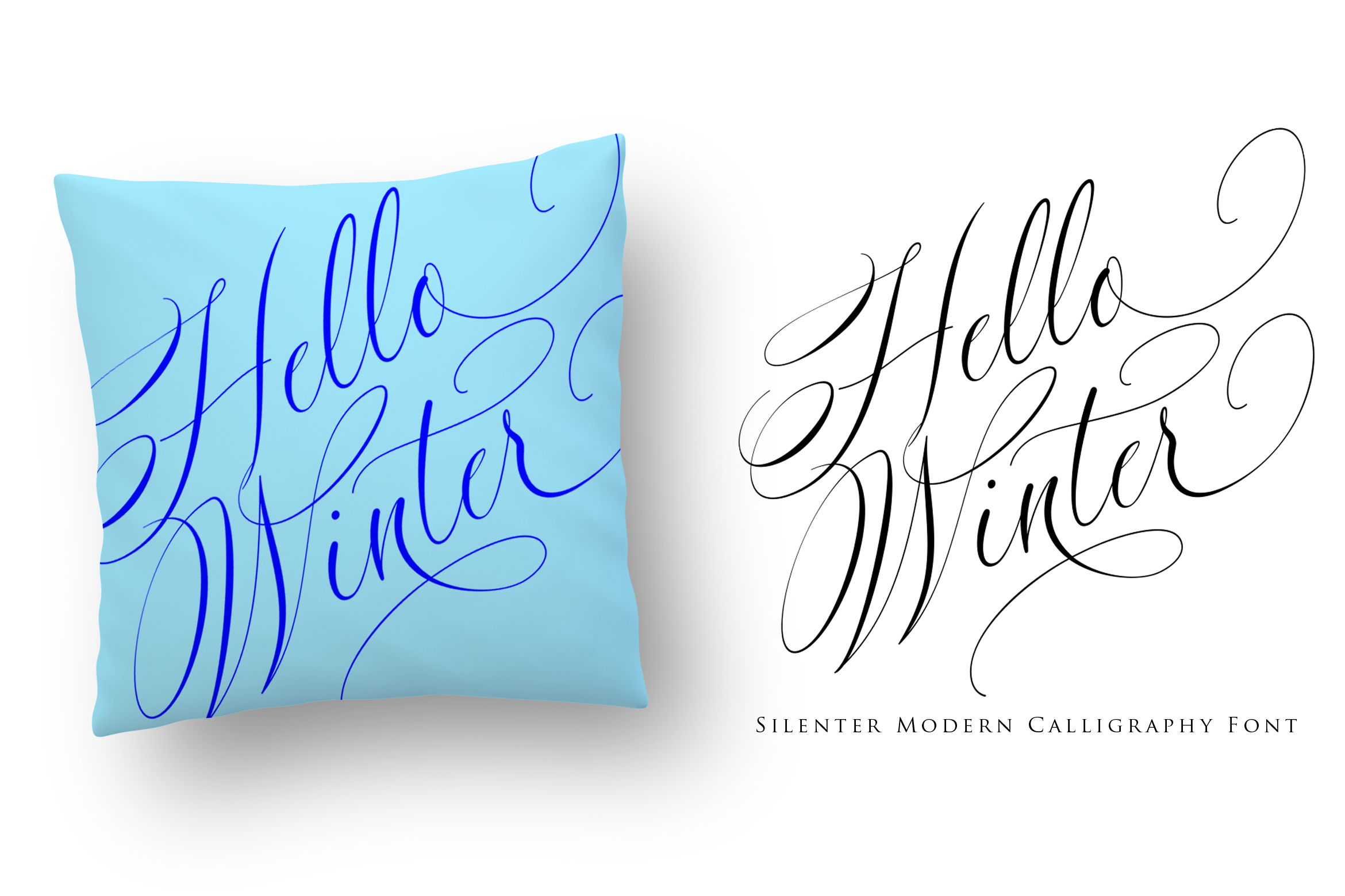 Silenter / Modern Calligraphy Font example image 5
