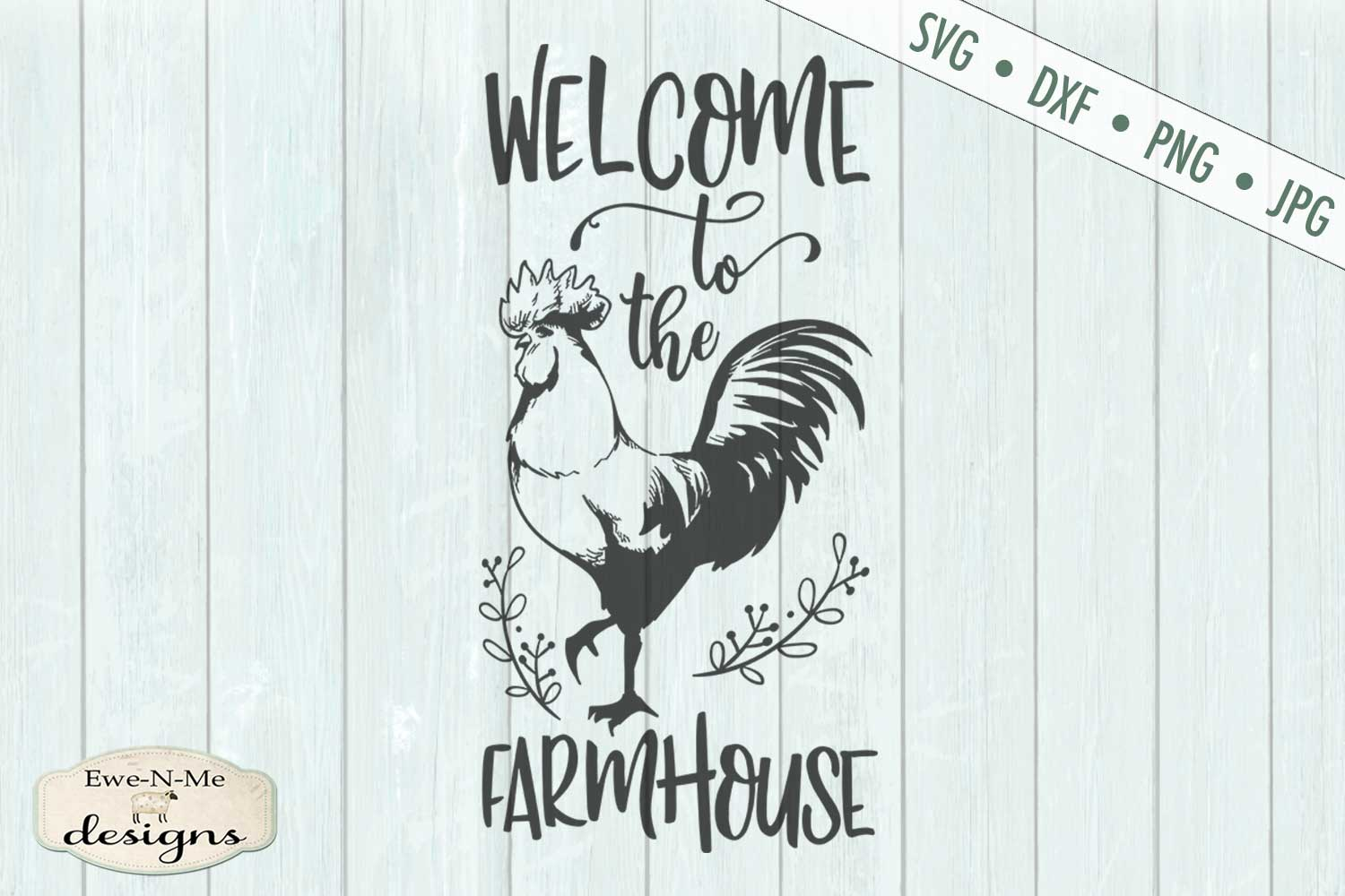 Welcome to the Farmhouse - Rooster - SVG DXF File example image 2