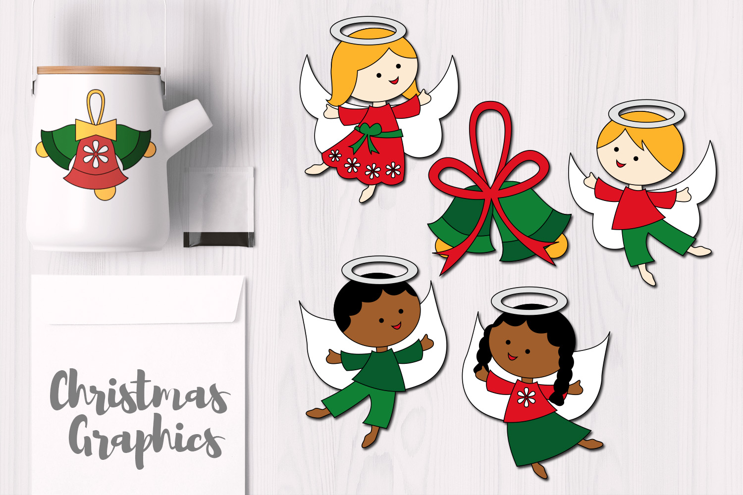 Christmas Flying Angels and Bells example image 1