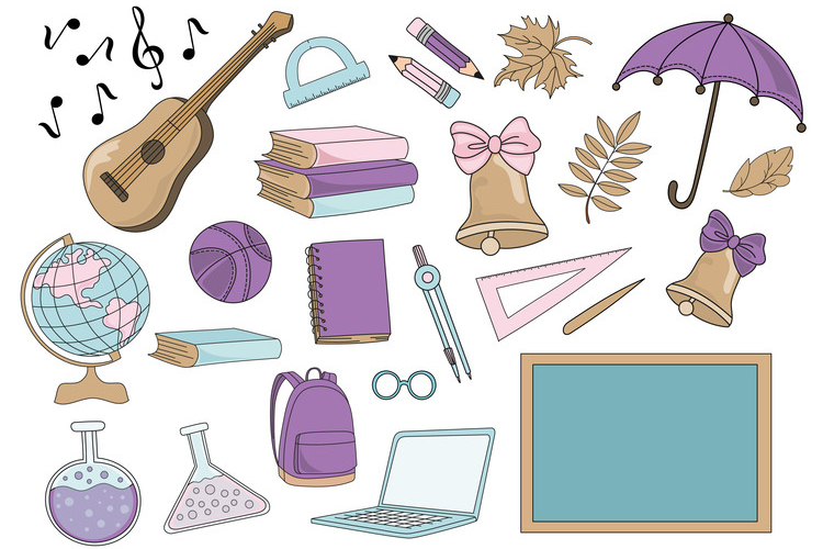 MERMAID SCHOOL Vector Illustration Animation Set example image 9