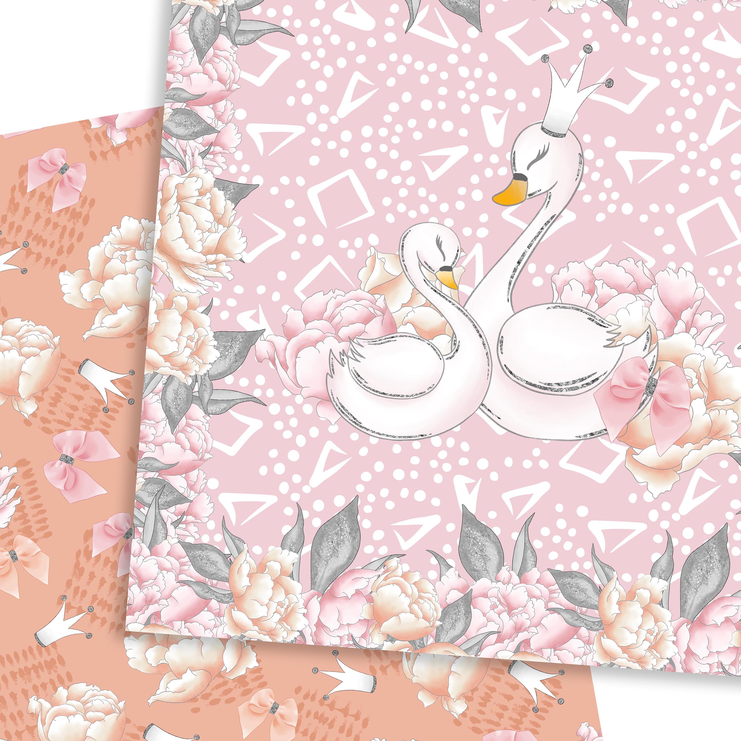 Wild swans patterns example image 6