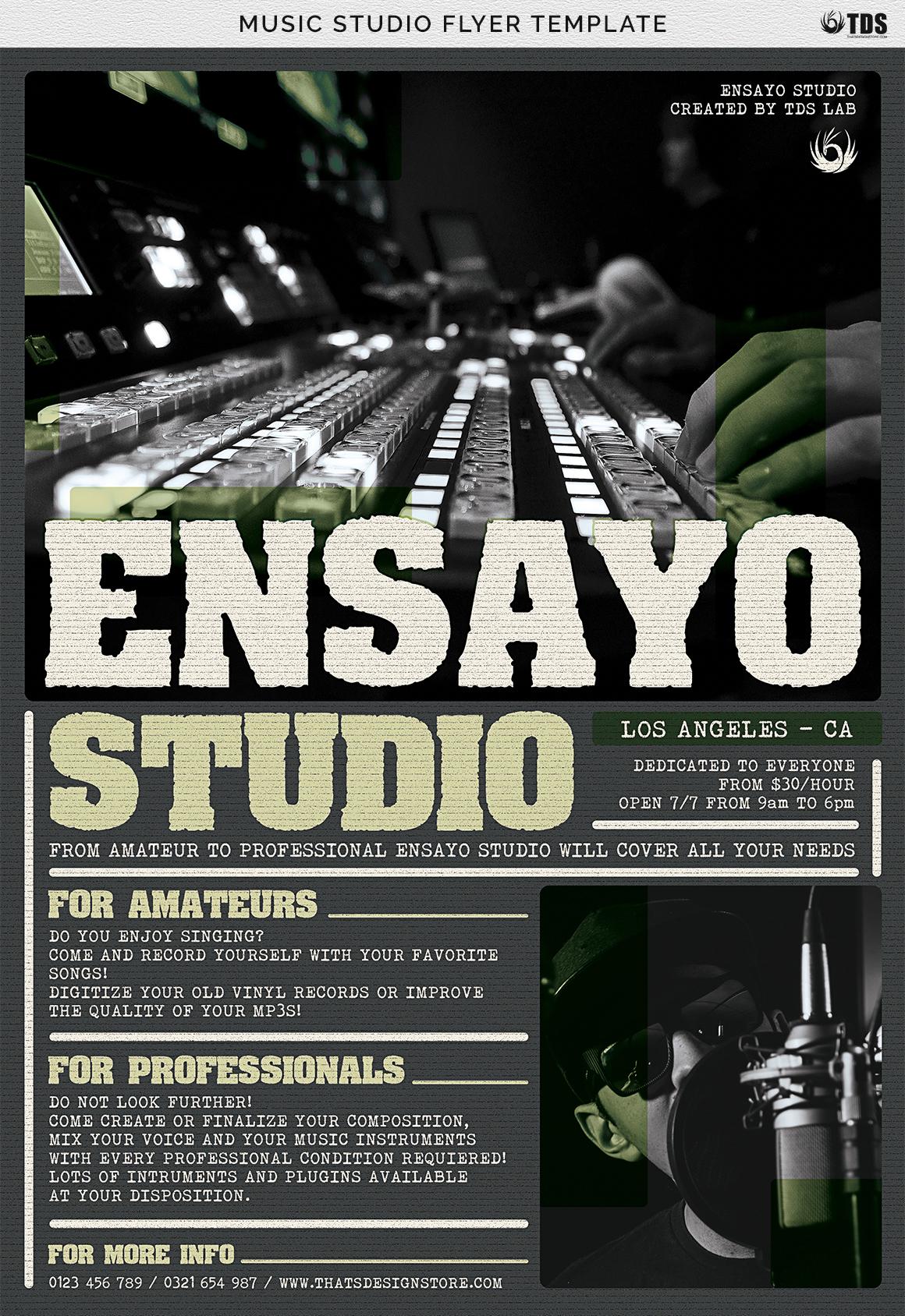 Music Studio Flyer Template example image 8