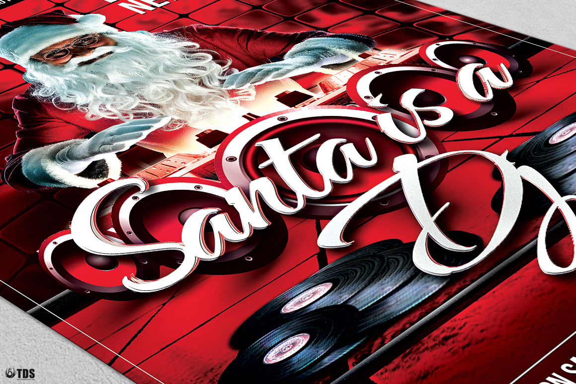 Santa is a DJ Flyer Template example image 6