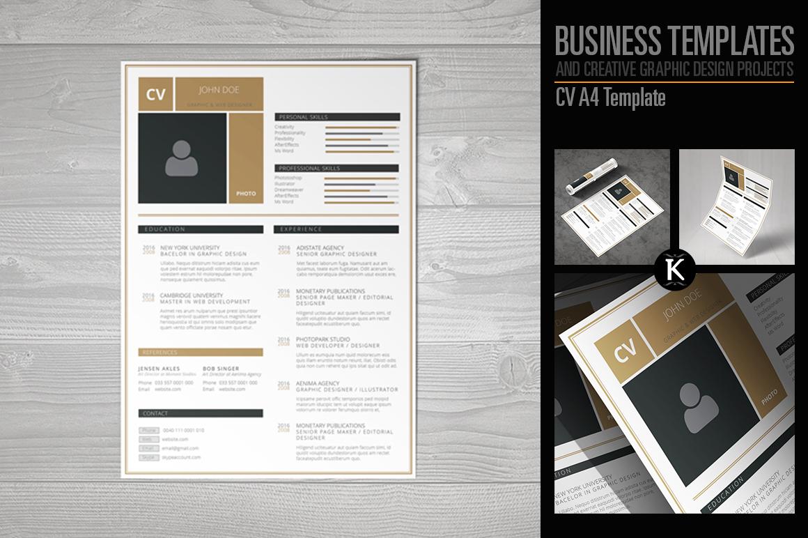 CV A4 Template example image 1