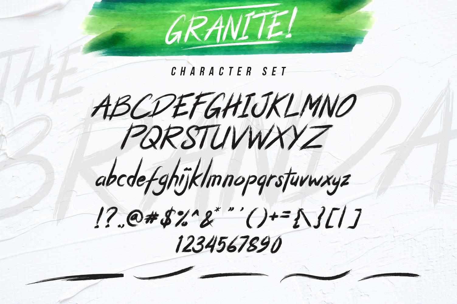 Granite Brush Font example image 7
