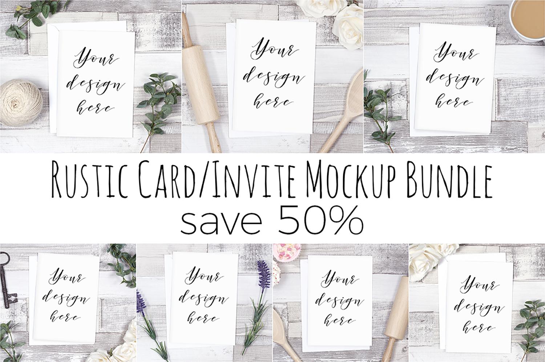 Rustic Card Mockup Bundle example image 1