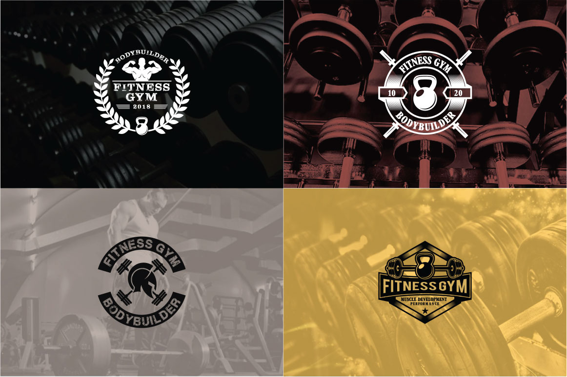 83 fitness gym bundle Logos Labels & Badges example image 21