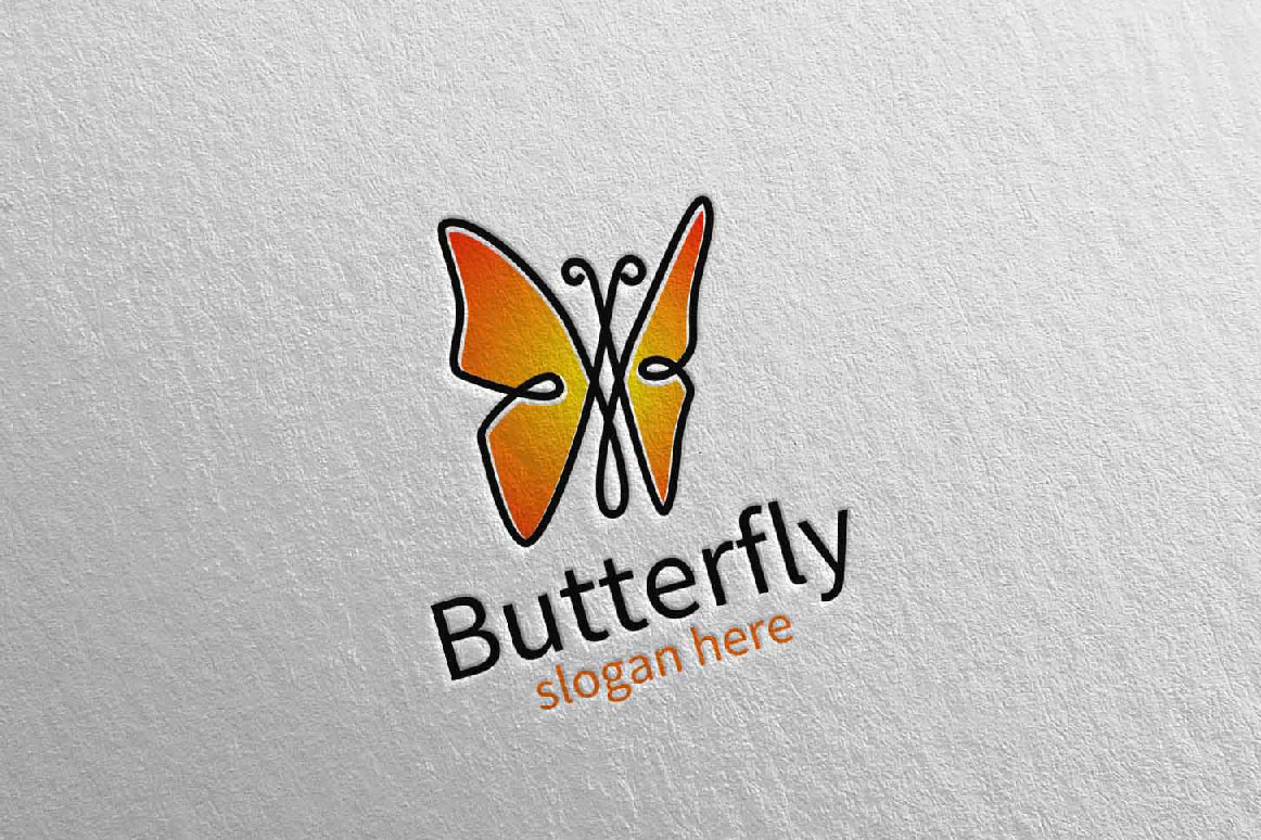 Butterfly Logo vol 16 example image 3