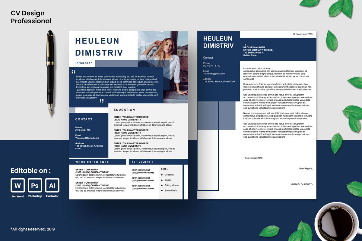 Resume Template CV Mega Bundles Professional !! example image 6
