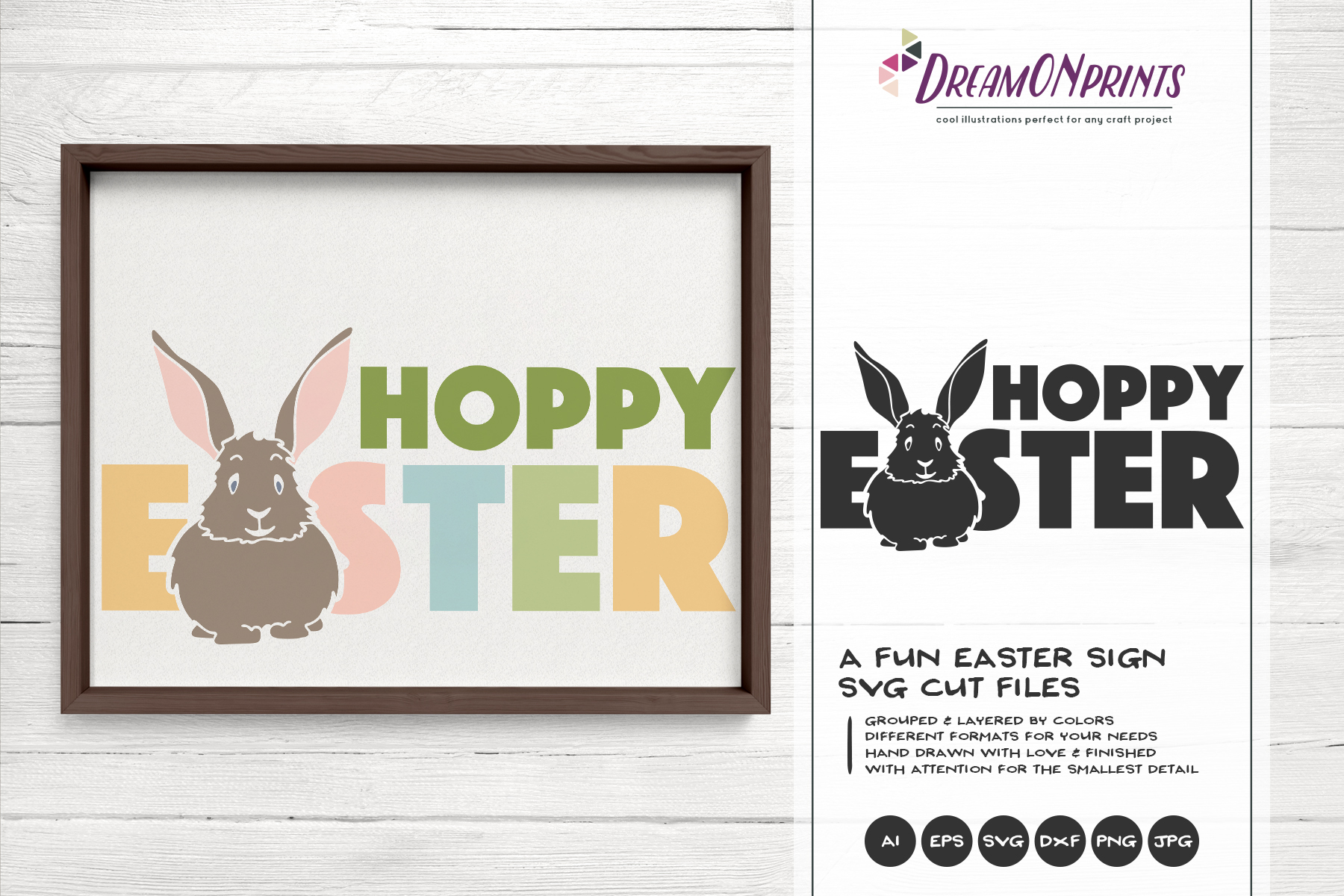 Easter SVG Bundle - The Funny Bunny Vector BUNDLE example image 13