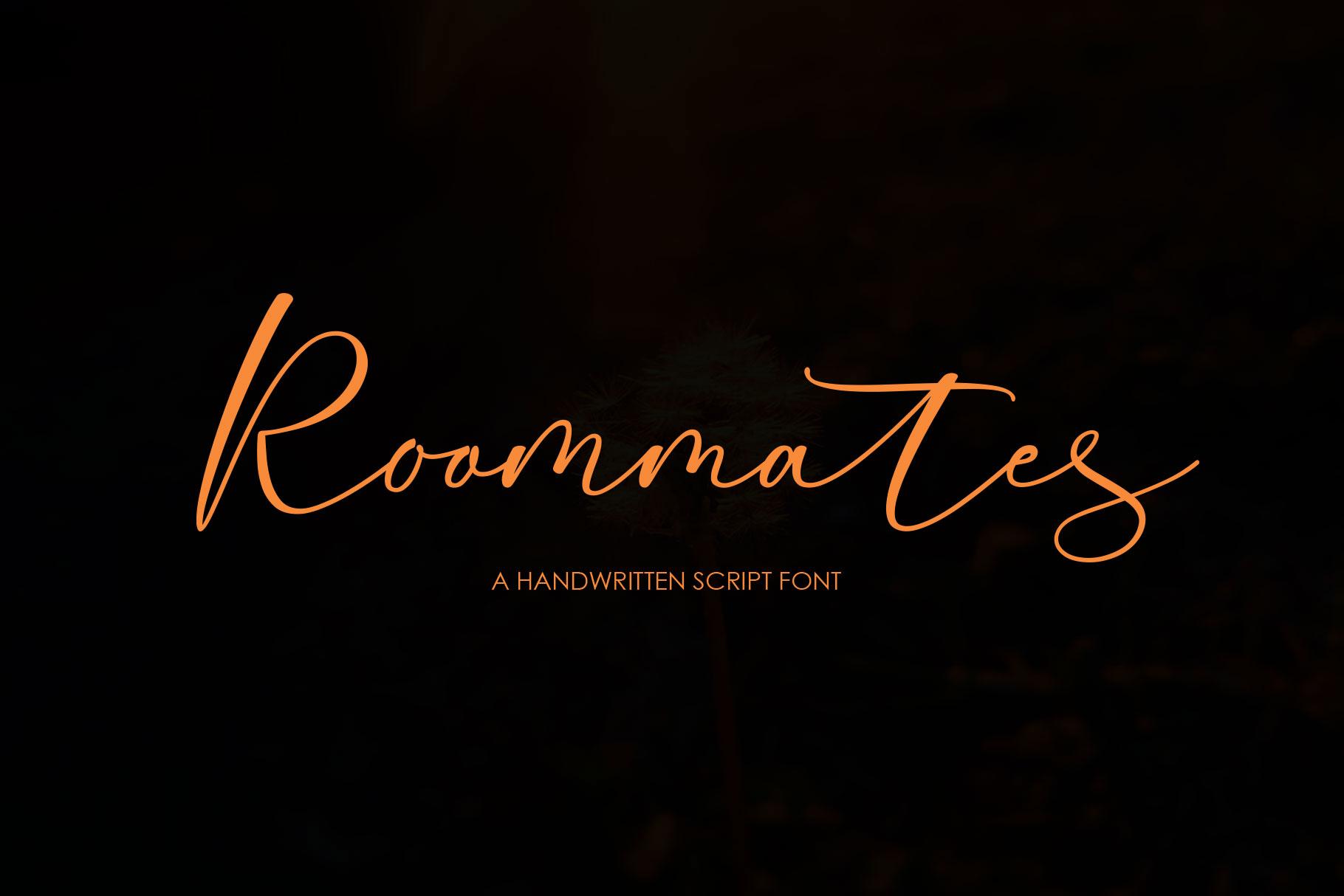 Roommates Script | Reguler & Slant example image 1