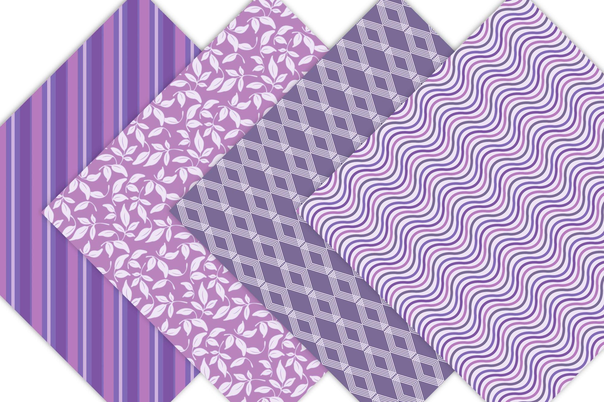 Purple Digital Paper example image 5