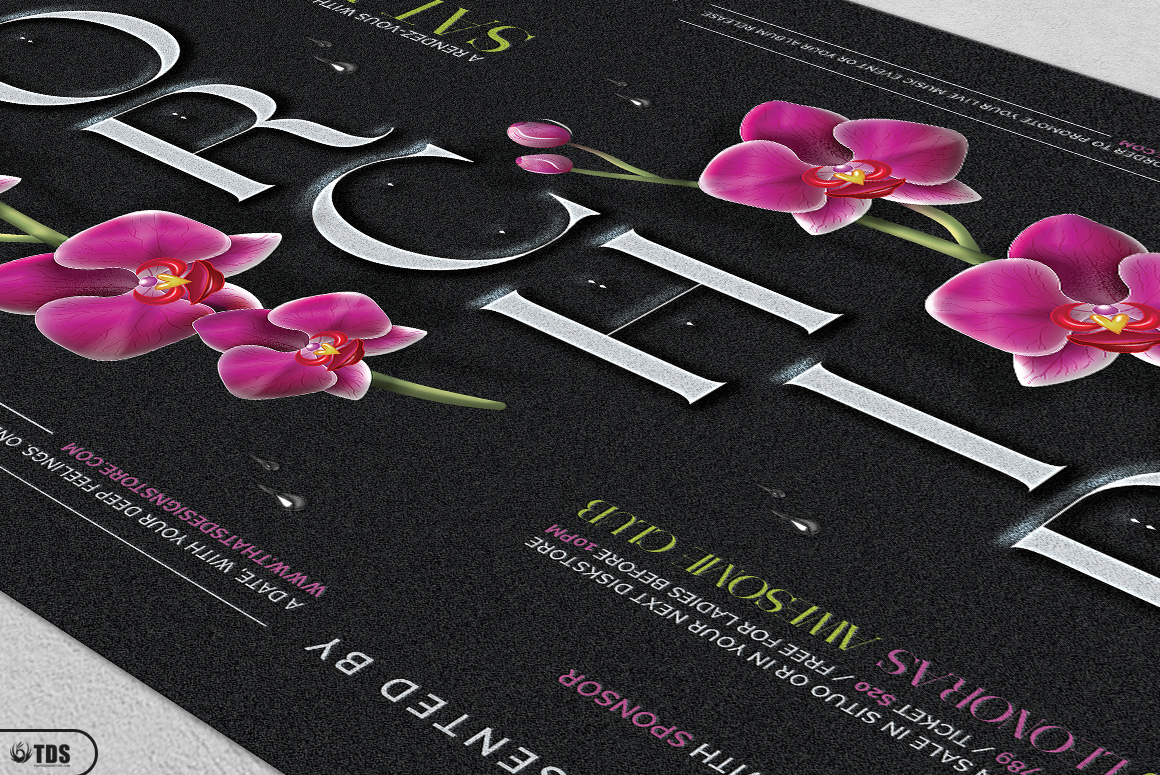 Orchid Flyer Template example image 7