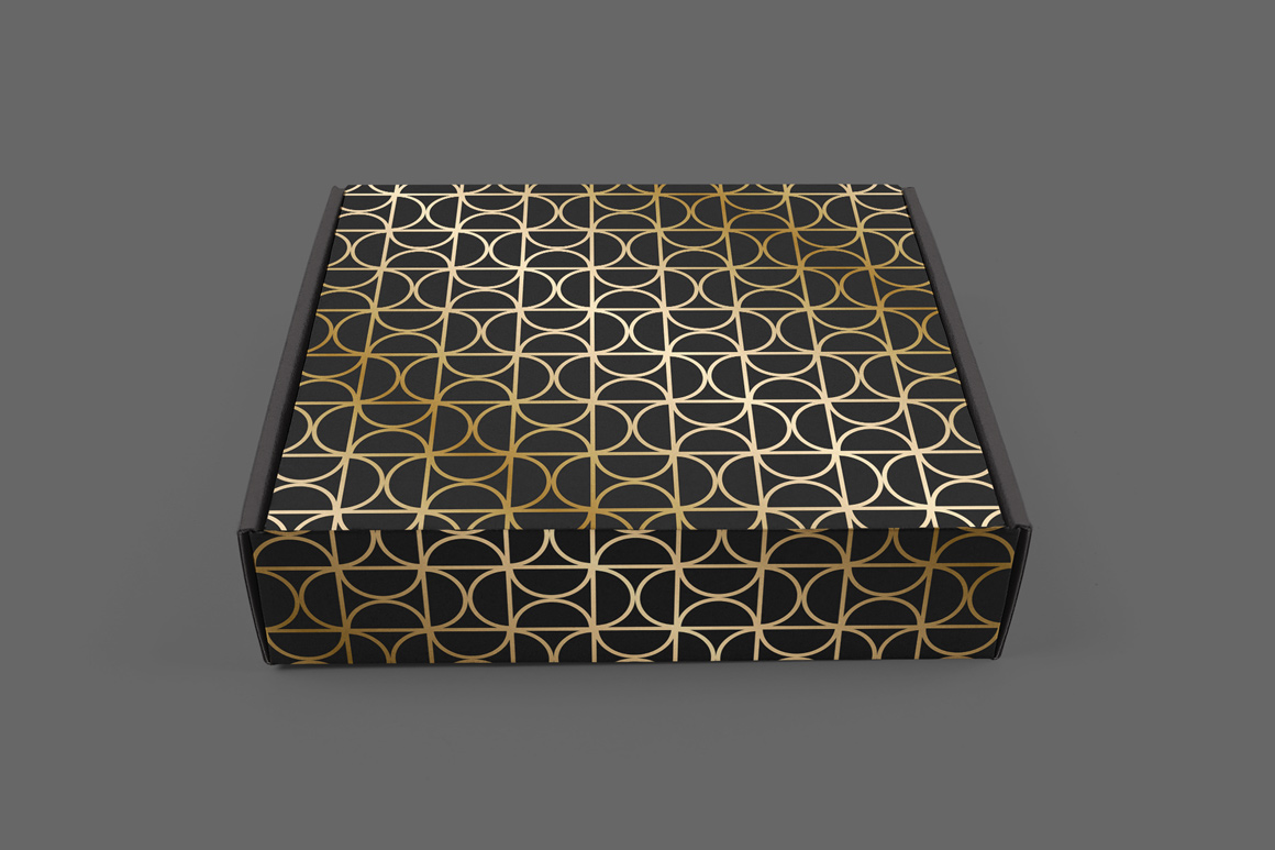 Golden seamless geometric patterns example image 2