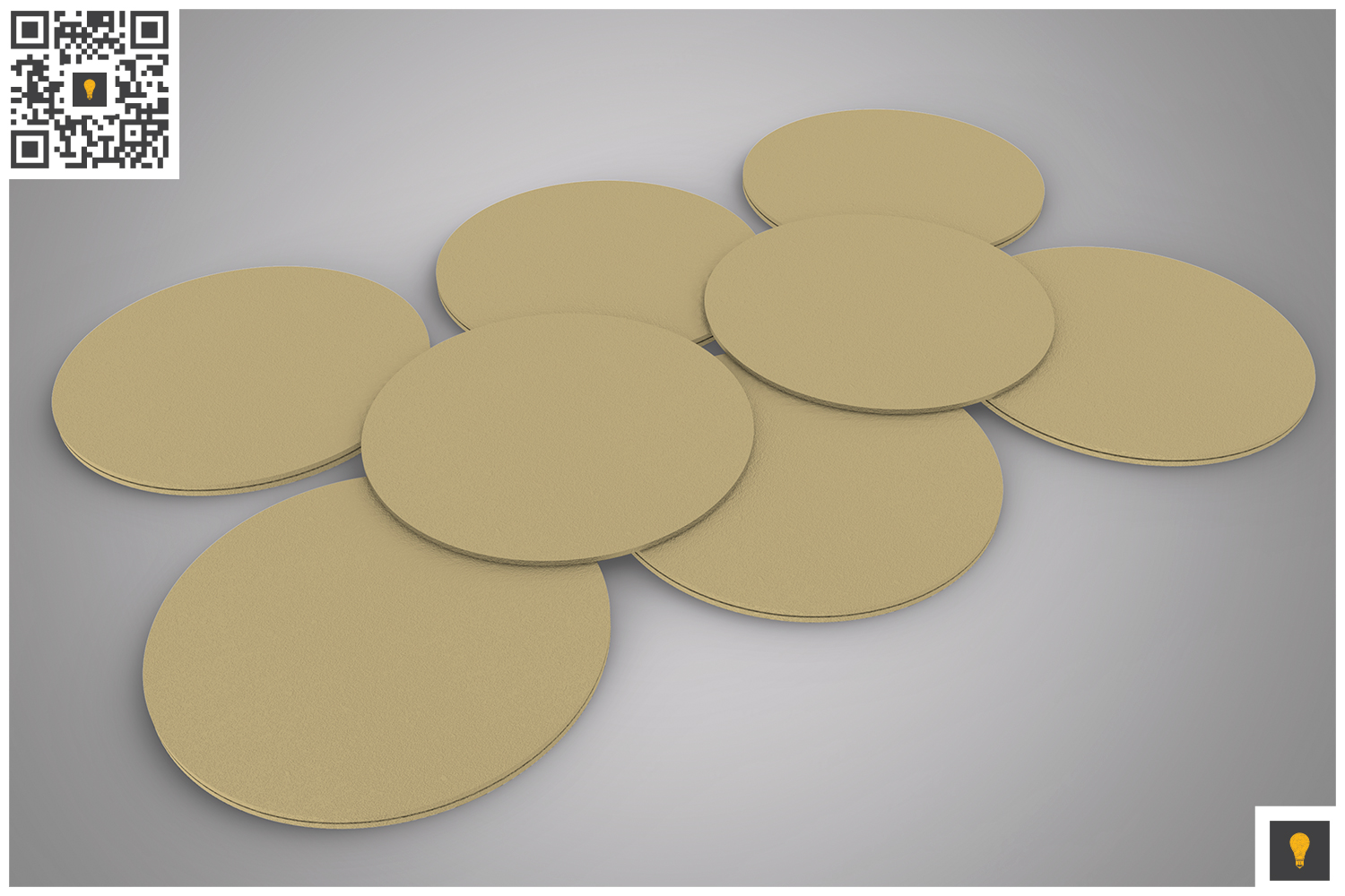 Paper Coaster 3D Render example image 7
