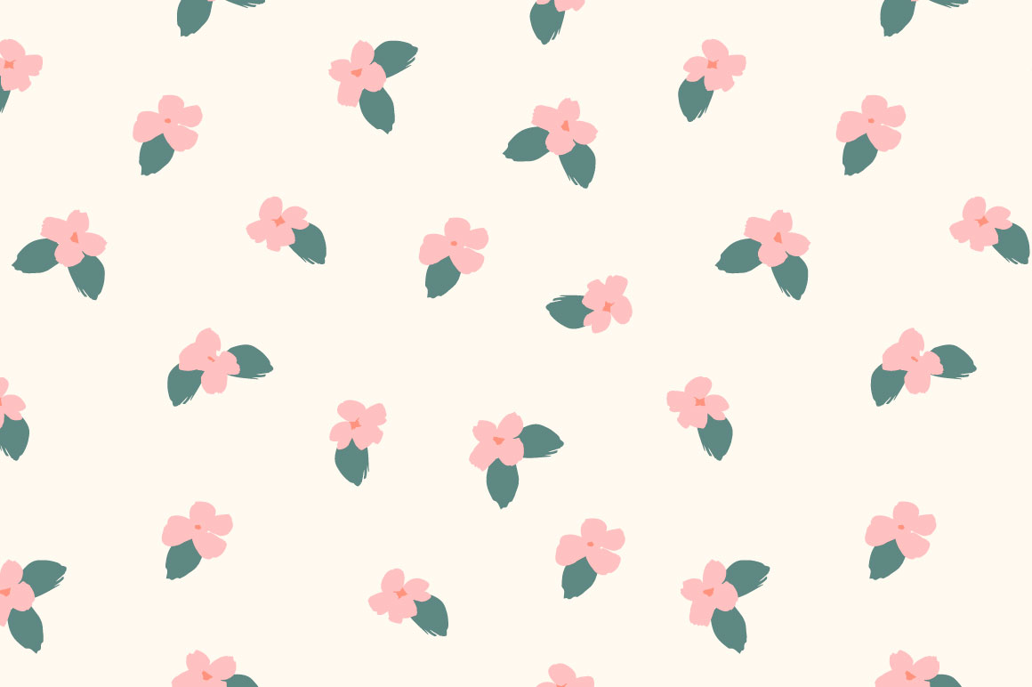Cute flowers. 10 seamless patterns. example image 10