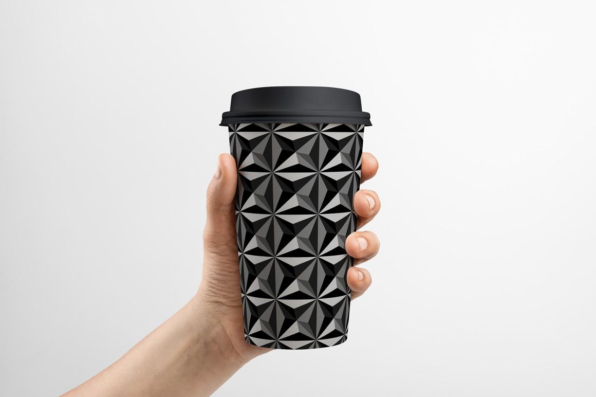 Dark seamless geometric textures example image 9