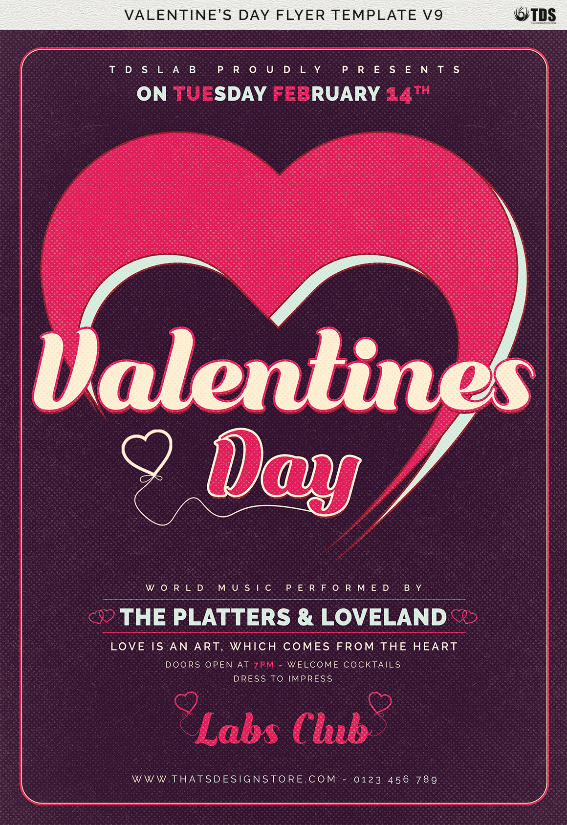 Valentines Day Flyer Template V9 example image 8