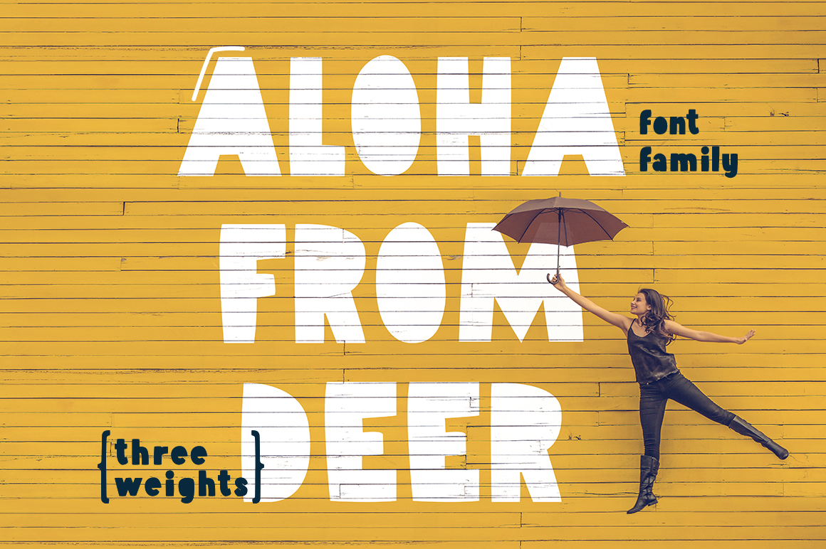Aloha From Deer - Summer Font Family example image 1