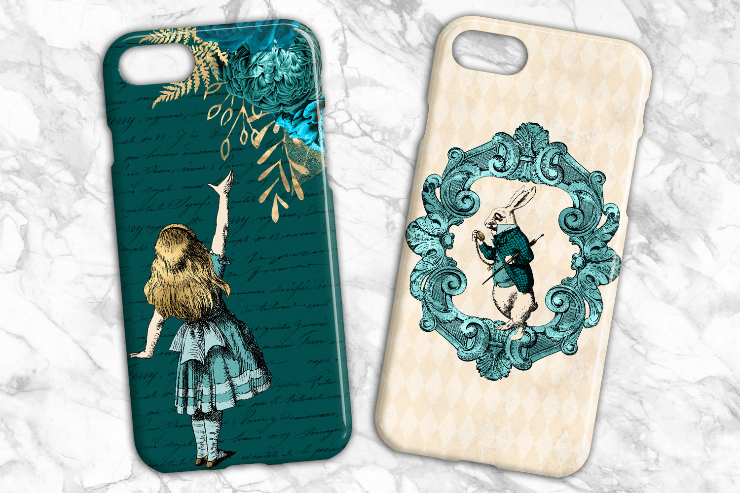 Teal and Gold Alice in Wonderland Graphics example image 5