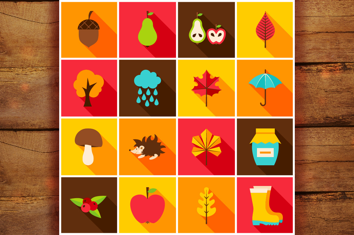Autumn Flat Icons example image 5