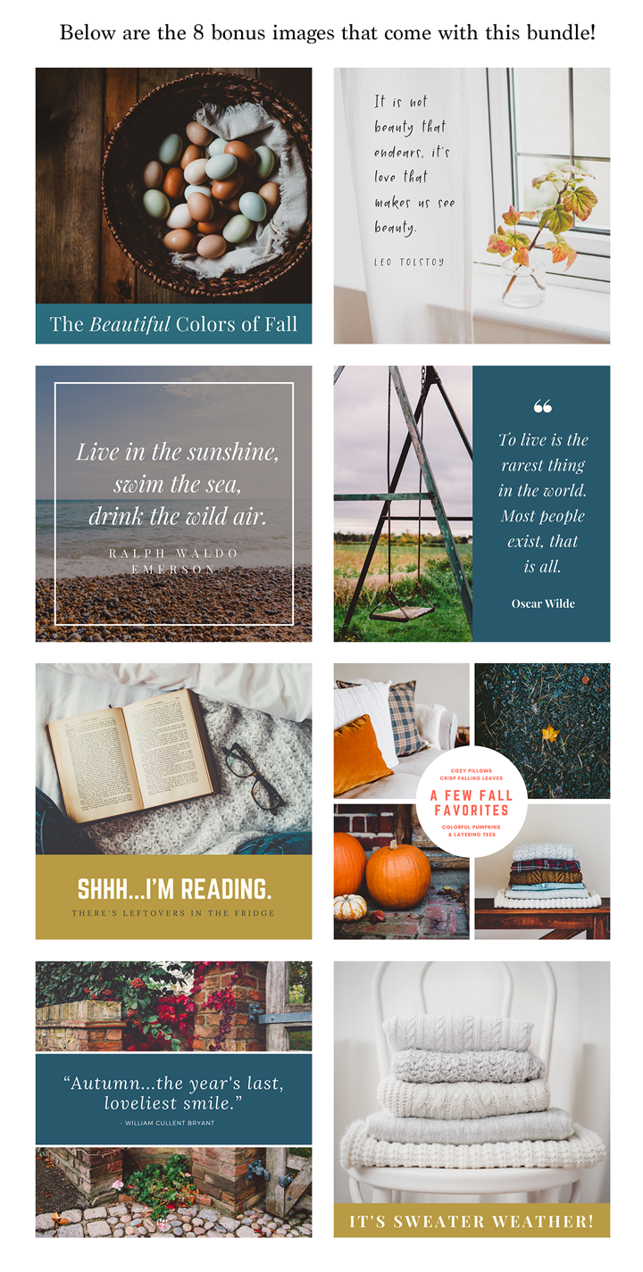 Fall-Inspired Photos & Quote Bundle example image 4