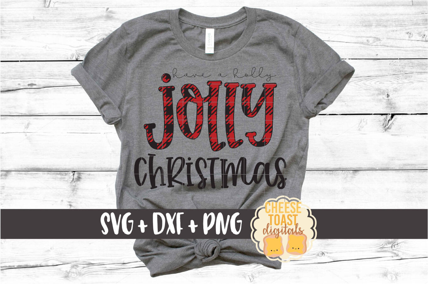 Have A Holly Jolly Christmas - Holiday SVG PNG DXF Cut Files example image 1