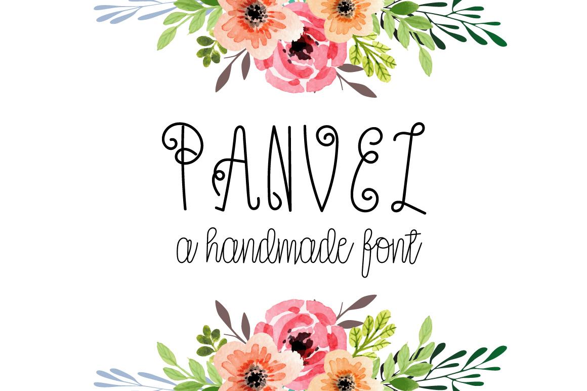 Panvel - A decorative font example image 1