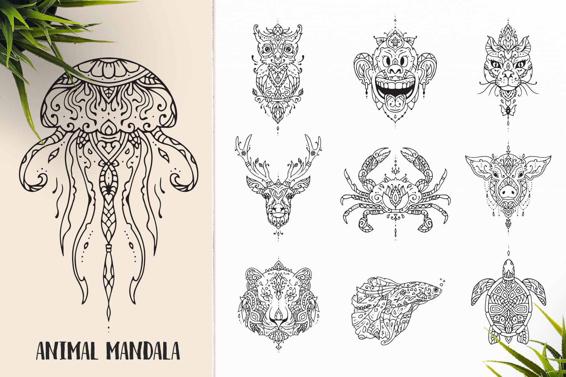 530 Vector Mandala Ornaments Bundle example image 4