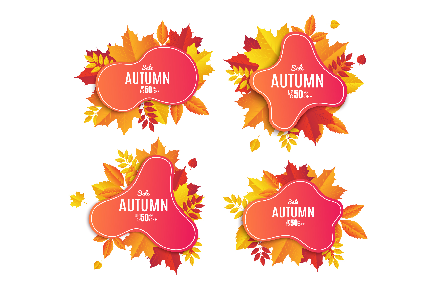 Autumn Sale. Abstract Banners example image 3
