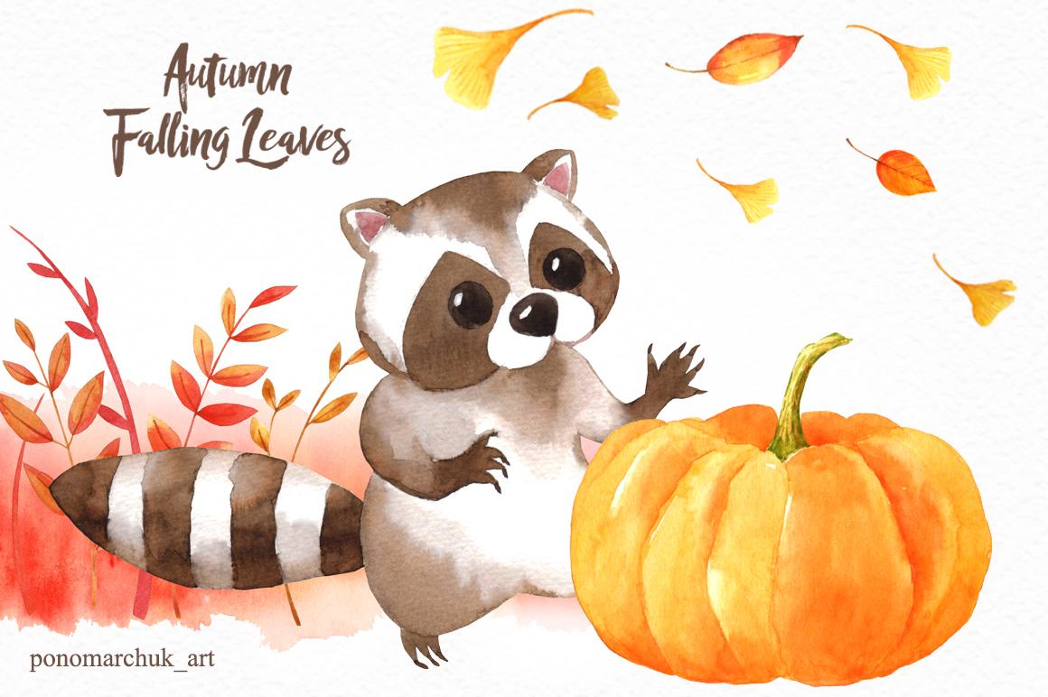 Autumn falling leaves example image 3