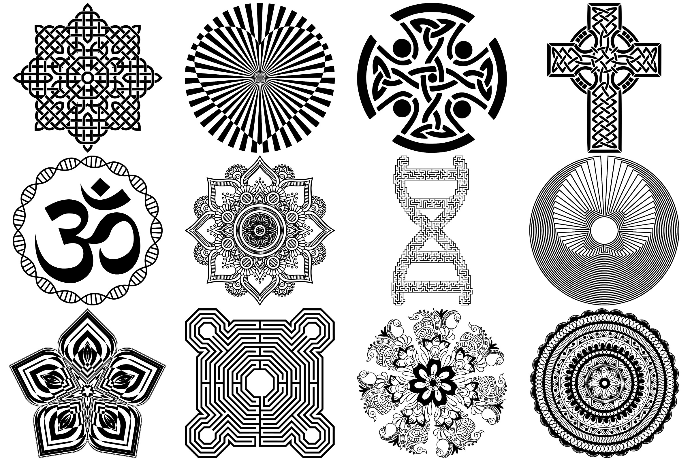 Labyrinth, Mandalas & Celtic Vectors AI EPS PNG example image 3